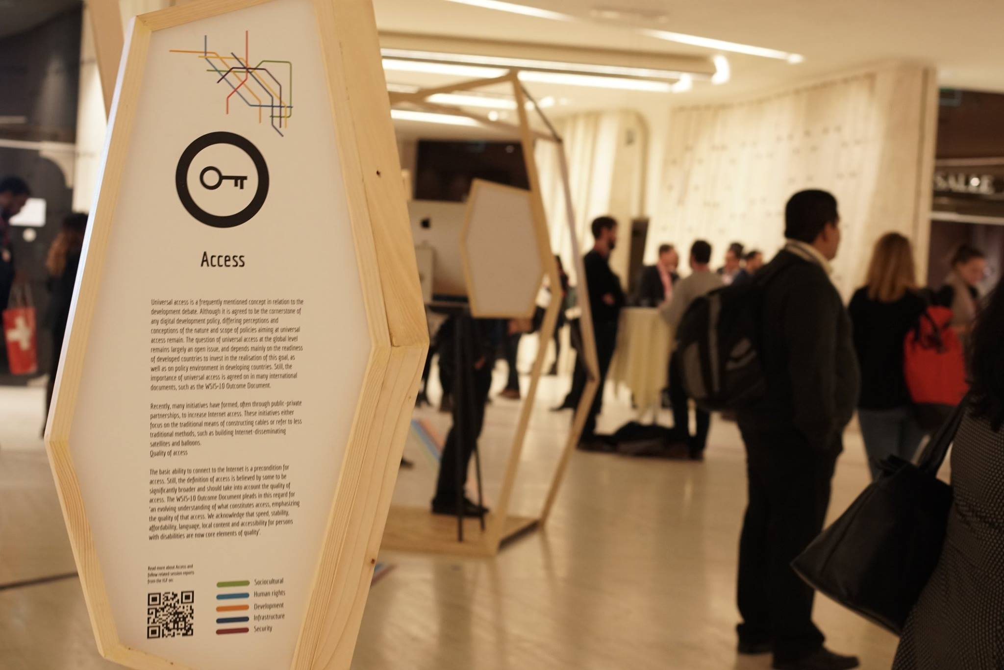 ART@IGF exhibition IGF2017 United Nations Geneva hallway building E